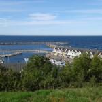 Hasle - port z pięknymi (jak to w Skandynawii) domkami