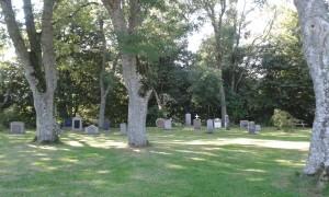 Stary wiejski cmentarz